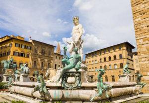 Fountain of Neptune, Piazza Della Signoria, Florence, Italy,